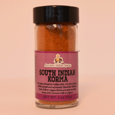 SOUTH INDIAN KORMA SPICES, 2 oz. jar