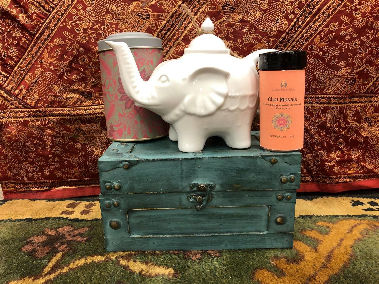 Elephant Teapot and our Masala Chai 2 oz.