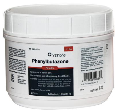 Phenylbutazone (Bute) powder 1gm/scoop (100 g bottle)