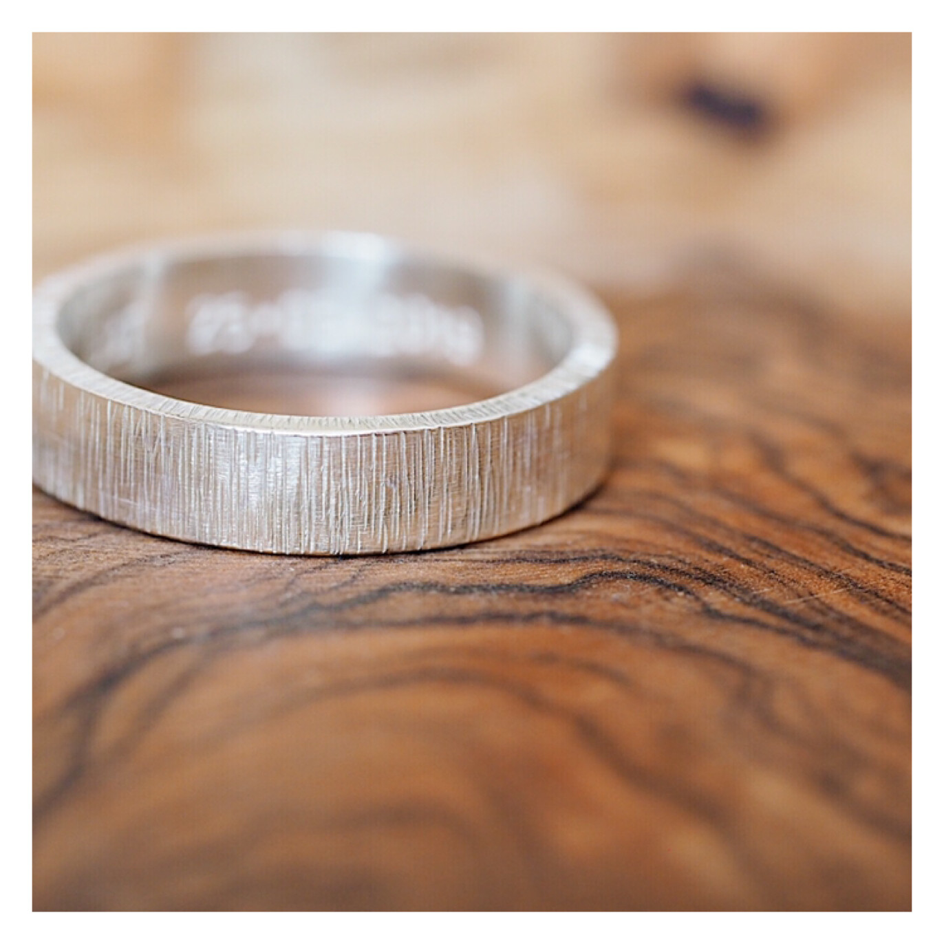 Men's Sterling Silver 5mm Textured Band