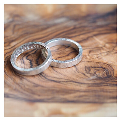 Sterling Silver 3.2mm Textured Band