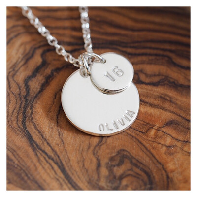 Design Your Own Personalised Necklace - MIDI & MINI DISCS