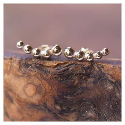 9ct Gold Bobble Creeper Earrings