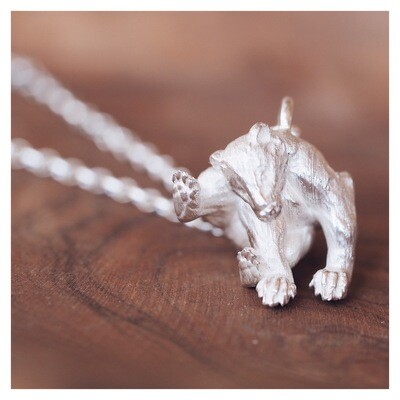 """Bruce"" The Badger Necklace"