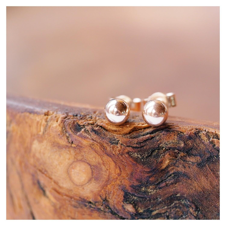 9ct Rose Gold Ball Earrings