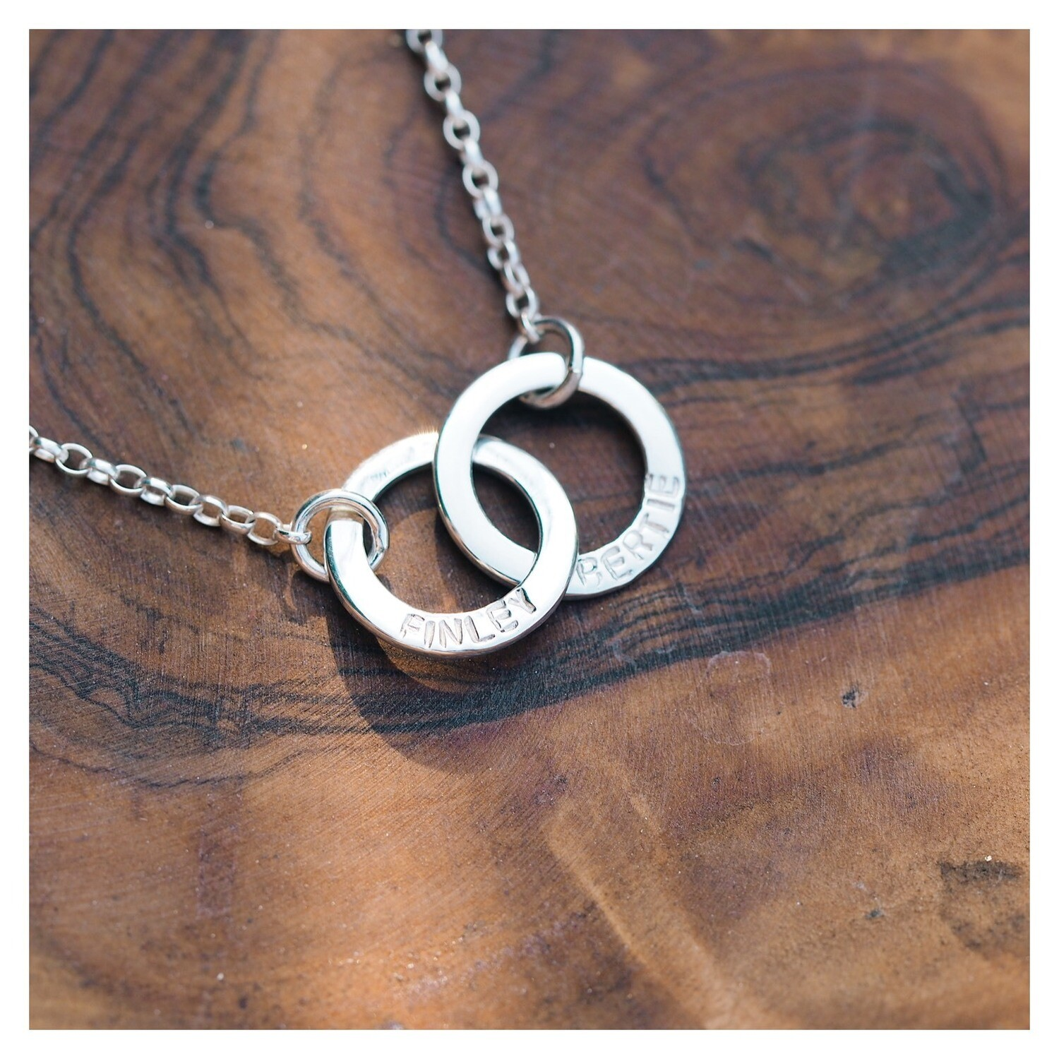 Sterling Silver Interlinked Mini Washer Necklace