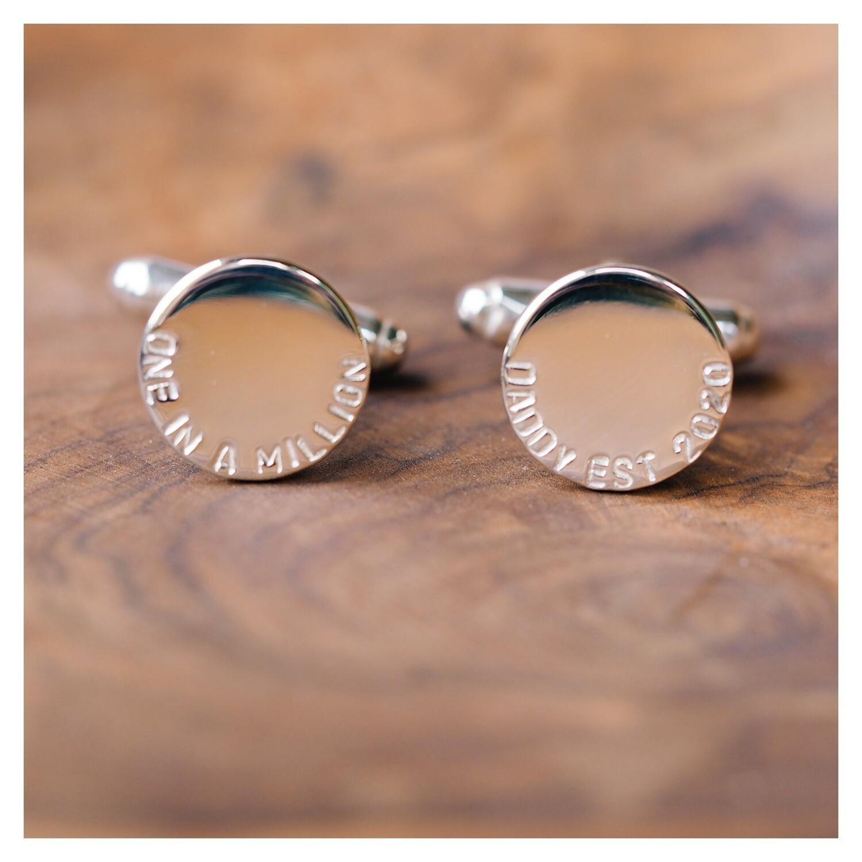 Sterling Silver Round Cufflinks