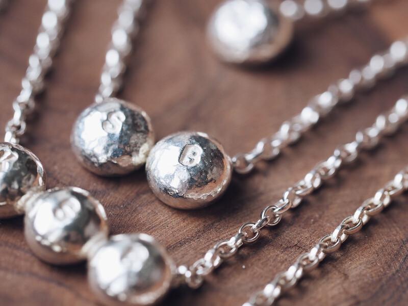 Sterling Silver Mini Dome Bar Necklace