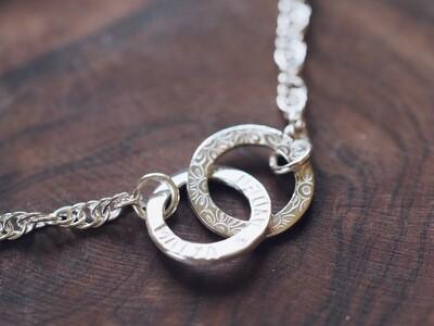 Sterling Silver Interlinked Mini Washer Bracelet