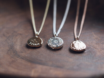 Solid Nugget Necklace (Sterling Silver or 9ct Gold)