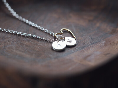 Design Your Own Personalised Necklace - MINI DISCS
