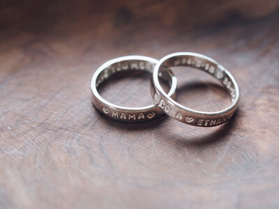 Sterling Silver 4mm Personalised Band