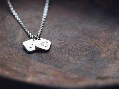Design Your Own Personalised Necklace - SQUARE DIAMONDS