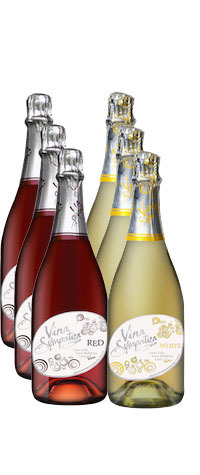 Vina Sympatica Sparkling Six Pack - 3 Red & 3 White