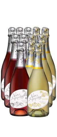 Vina Sympatica Sparkling Twelve Pack - 6 Red & 6 White