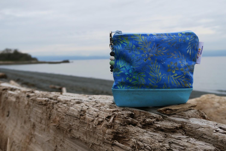 Small Carry Case - Blue Batik