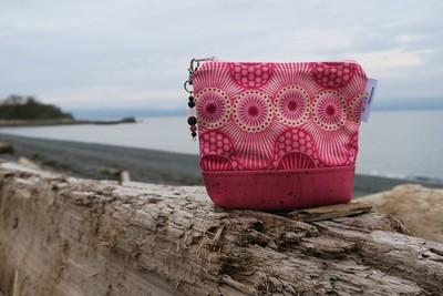 Small Carry Case -Pink Waves