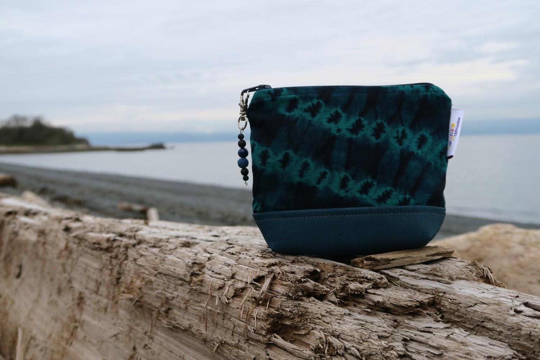 Small Carry Case -Teal Batik