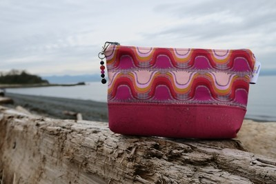 Large Cork Carry Case Pink Wave