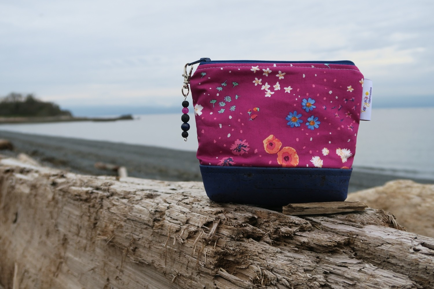 Small Carry Case -Fuchsia Floral