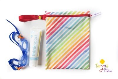 Small Food Safe Wet Bag -Diagonal Stripe