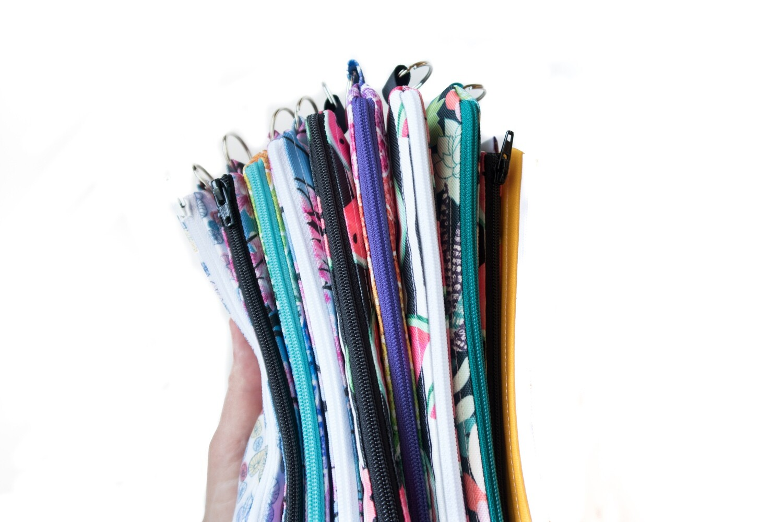 Reusable Straw Bag, double sided -custom length and fabric