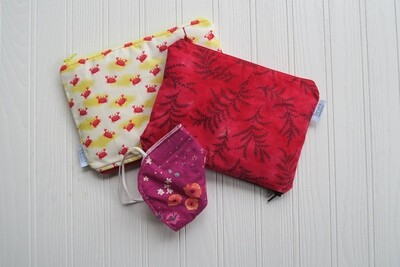 """Small Double-sided 6""""x9"""" Wet/dry Bag -Custom Fabric"""