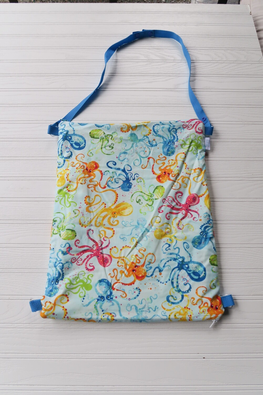 """Large Wet/ Dry Bag 15""""x 18"""" with Double Zip -Octopus"""