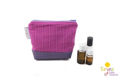 Small Carry Case -Pink Mariner's Cloth
