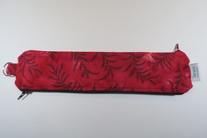 Reusable Straw Bag, Double sided -Red Fern