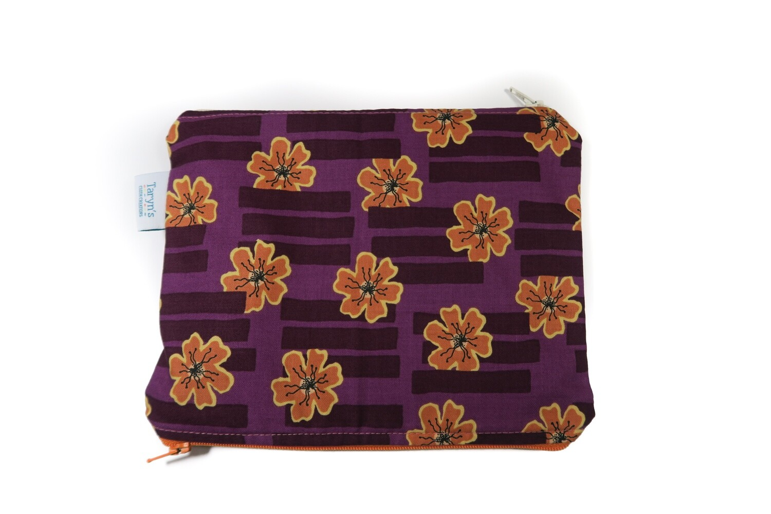 Small Double-sided Wet/dry Bag -Purple Floral