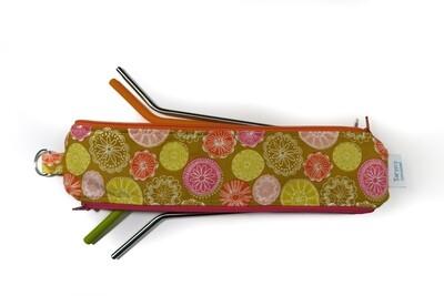 Reusable Straw Bag, Double sided -Mandalas