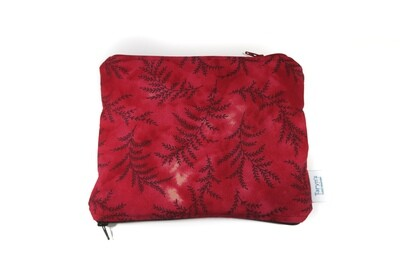 Small Double-sided Wet/dry Bag -Red Fern