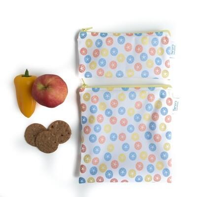 Reusable Snack and Sandwich Bag Set -Sand dollars