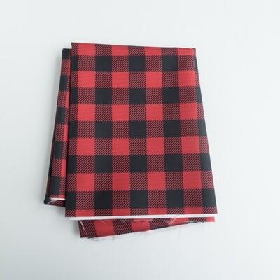 Reusable Straw Bag, double sided -Buffalo Plaid