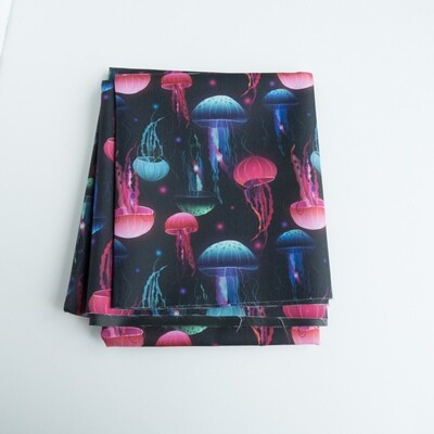 Reusable Straw Bag, double sided -Jellyfish