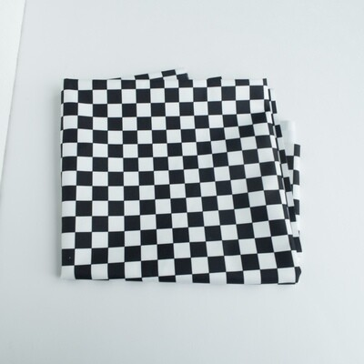 Reusable Straw Bag, double sided -Checkerboard