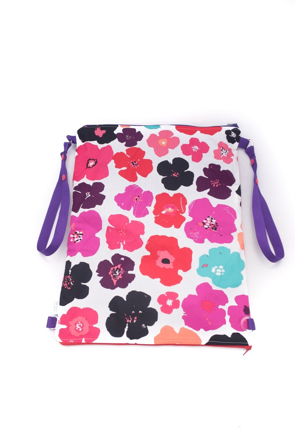 """Large Wet/ Dry Bag 15""""x 18"""" with Double Zip -Floral"""
