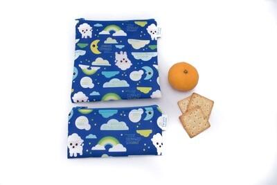 Reusable Snack and Sandwich Bag Set -Sheep