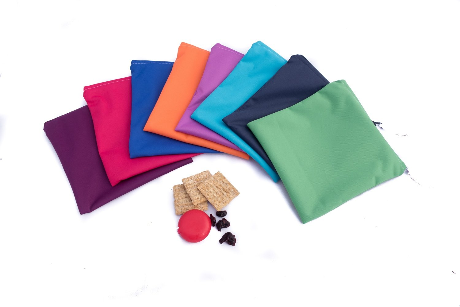 Assorted Solid Colour Reusable Sandwich Bags