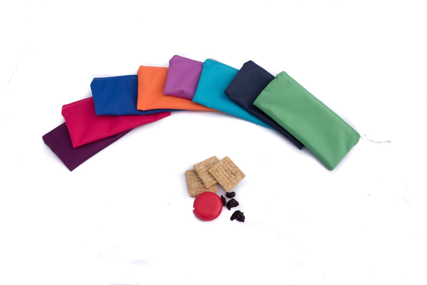 Assorted Solid Colour Reusable Snack Bags