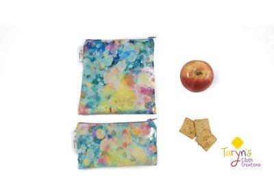 Reusable Snack and Sandwich Bag Set -Kaleidescope