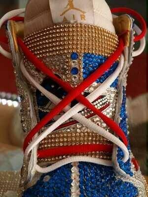 Customized Jordan 1 - P.A. Iced Out