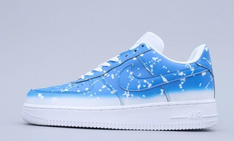 "AF1 ""Ocean Blue"" - Customized"
