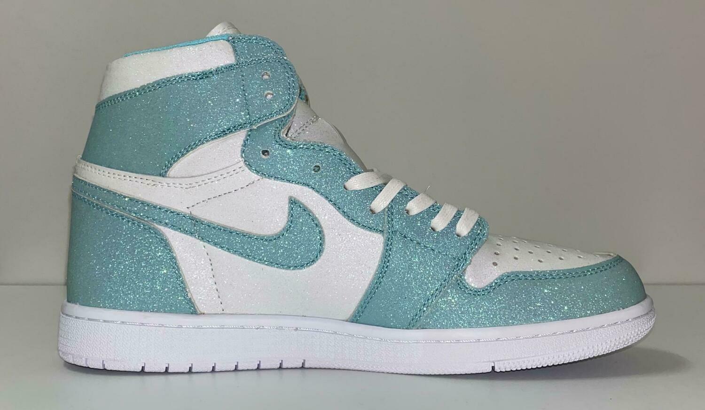 Custom Sneaker - Nike Air Jordan Glitter Blue