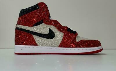 Custom Sneaker - Nike Air Jordan Glitter Red