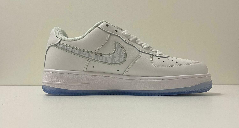 Custom Sneaker - Nike AF1 Light Grey Swoosh Style