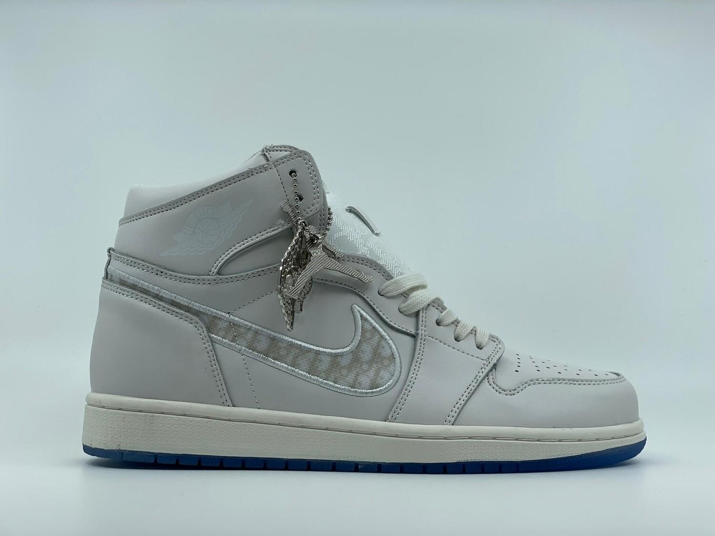 Jordan 1 White PlatinumD - Customized