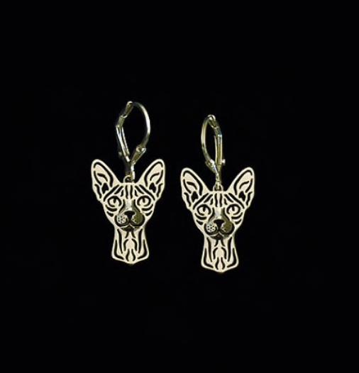 Rex or Sphinx drop earrings