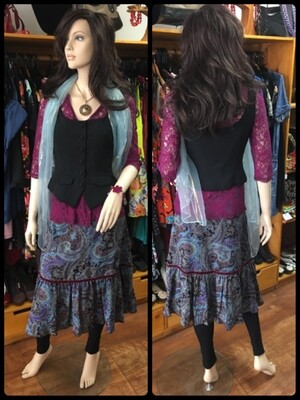 CKM Paisley Skirt - Size S